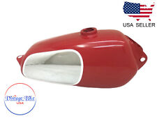 HUSQVARNA 1974 CR 250 MAG NEW REPRO RED PAINTED CHROME STEEL  TANK|Fit For