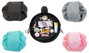 Drawstring Open Flat Cosmetics Bag -- Various Colours