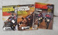Lot of 3 Different 1986 Motor Cyclist Magazines