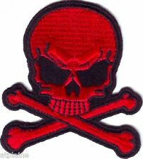 Patch brodé SKULL rouge - Style BIKER HARLEY