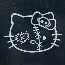Drôle Hello Kitty darned laid Zombie Visage Autocollant Vinyle Autocollant Voiture