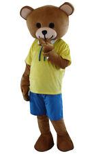 2017 New Teddy Bear In Shirt Shorts Adult Cartoon Mascot Costume Mascot Costume