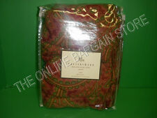 Pottery Barn Marcelle Paisley Floral Linen Bed Bedroom Duvet Cover Twin Red
