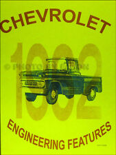 1962 Chevrolet Truck Engineering Features Manual Chevy Pickup Suburban Big Truck