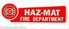 FIRE DEPARTMENT HAZ MAT Highly Reflective RED VINYL DECAL - HAZ MAT
