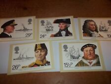 Maritime History 16 June 1982 PHQ 60 set Royal Mail Stamp Card Series FREE POST