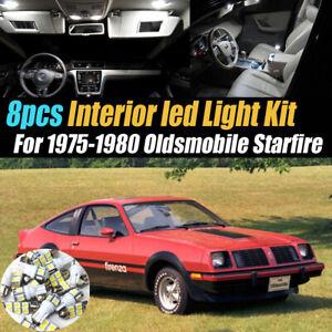 8Pc Super White Car Interior LED Light Kit for 1975-1980 Oldsmobile Starfire