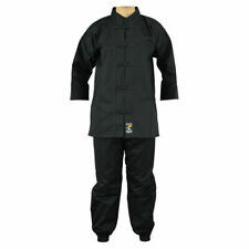Martial Arts Kung Fu Uniform Black Gi Adults Suits Tai Chi Outfit