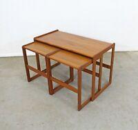 Set of 3 Mid-Century Danish Modern Arne Hovmand Mogens Kold Teak Nesting Tables