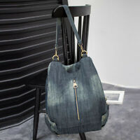 Convertible Denim Backpack Rucksack Daypack Travel Bag Purse Shoulder Bag Hobo
