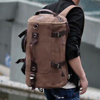 Men's Large Canvas Backpack Shoulder Bag Sports Travel Duffle Bag Hand Luggage