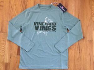 NWT Boy's Vineyard Vines LS Rainbow Kick Soccer Performance T-Shirt Size XL