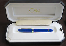 OMAS 360 MEZZO ROYAL BLUE HIGH TECH  FOUNTAIN PEN   MEDIUM PT NEW IN BOX