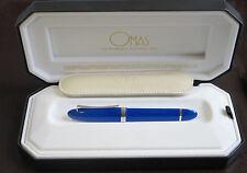 OMAS 360 MEZZO ROYAL BLUE HIGH TECH  FOUNTAIN PEN   MEDIUM PT NEW IN BOX