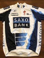 Craft Cycling Jersey Team Saxo Bank Mens Medium Full Zip UCI Pro