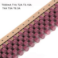 T500mA T1A T2A T3.15A T4A T5A T6.3A serie 382 250 V Fusible cilíndrico lento romper