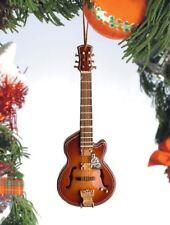 "Miniature 5"" F-Hole w/ Cutaway Guitar Hanging Tree Ornament OGB12"