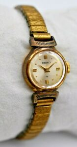 Vintage Ladies SEIKO Gold Plated Mechanical Cocktail Watch 17 Jewels, 10-0730