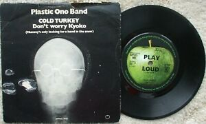 Plastic Ono Band ( Lennon) - Cold Turkey / Don't Worry Kyoko UK Apples 1001 + PS