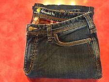 Carhartt Flannel lined Jeans...Siz 12  34-30 NWOT