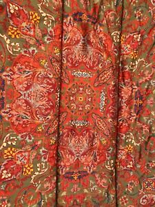 Ralph Lauren Vintage Galahad Twin Comforter Red Medieval Paisley Sateen Rare!