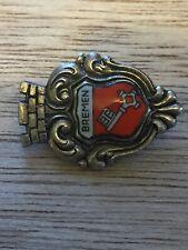 Vintage Bremen Key Castle Shield Collectible Hat Pin Lapel