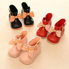 I106 Fashion Girl's Cute Bow Jelly Kids Rainboots Rain Boots Princess Rain Shoes