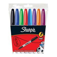 8er Pack Sharpie Permanentmarker mit feiner Spitze, farblich sortiert, Marker