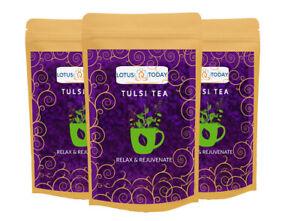 LOTUSTODAY Herbal tea Pure Tulsi tea | Holy Basil Tea | Original tulsi Relax Tea