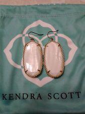 Kendra Scott White Pearl Deily Drop Statement Earrings Rare HTF Vintage