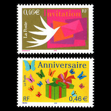 France 2002 - Greetings Stamps Art - Sc 2888/9 MNH