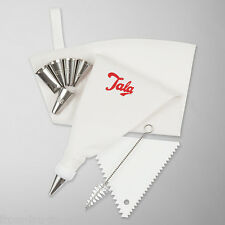 9 Piece 30 cm Icing Bag set with 6 Nozzles Scraper and brush