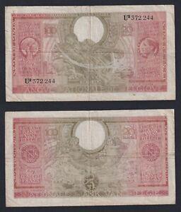 Belgio 100 francs on 20 belgas 1943  BB/VF  B-10