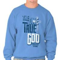 One True God Christian Religious Jesus Christ Crewneck Sweat Shirts Sweatshirts