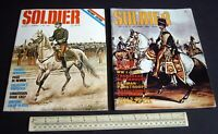 Vintage 1968/9 Soldier Magazine USA V1#1 + V1#2. Model Soldiers Military History