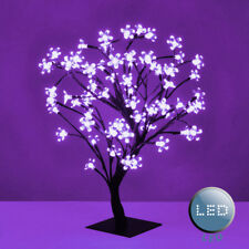 Modern Lilac LED Bonsai Cherry Blossom Tree - 72 Fairy Lights Twig Table Lamps
