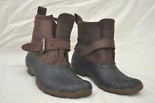 Sperry Top Sider Rip Water Faux Fur Lined Waterproof Rain Duck Boots Womens 6.5