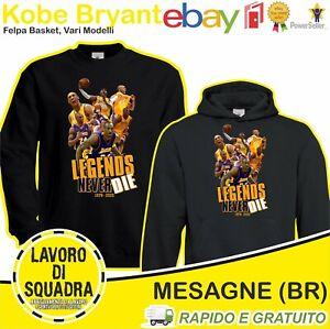 Felpa Kobe Bryant La Lakers basket BLACK MAMBA ALL-STAR NBA Legend Leggenda