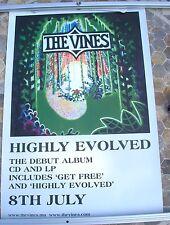 THE VINES Highly Evolved 2002 promo poster 28 x 20  original