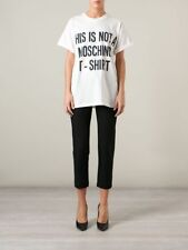 """Moschino Couture Jeremy Scott """"THIS IS NOT A MOSCHINO T-SHIRT"""" Black/White Tee"""