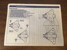 1989 GI Joe Cobra Destro's Despoiler Instructions Blueprints Sheet