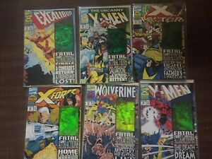 X-Men FATAL ATTRACTIONS, Complete 6 issue Hologram set, Marvel, WOLVERINE (CC2)