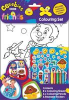 Cbeebies Friends Childrens Colouring Set Go Jetters Hey Duggee Mr Tumble