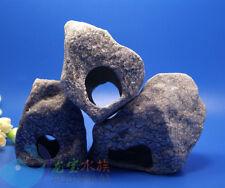 3PC Aquarium Fish Decorations Cichlid Stone Cave hide  for Angelfish shrimp