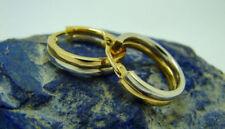 Echter Edelmetall-Ohrschmuck ohne Steine aus mehrfarbigem Gold mit Schnappverschluss