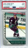2005-06 Upper Deck 452 Ryan Getzlaf Rookie YG Young Guns PSA 9 MINT