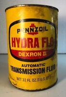 Vintage 70's PENNZOIL Hydra Flo Dexron 2 trans  1 Qt Can Empty C5