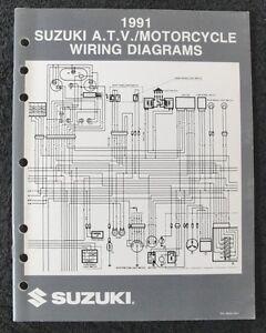 1991 Suzuki 50 80 250 350 650 750 1100 1400 Moto Eléctrico Diagrama Manual