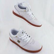 DC Skateboard Shoes Sz 8 Leather off white Mens Cole Signature ADYS100231 RARE