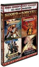 DEATHSTALKER I & II  BARBARIAN QUEEN  WARRIOR & THE SORCERESS DAVID CARRADINE R1